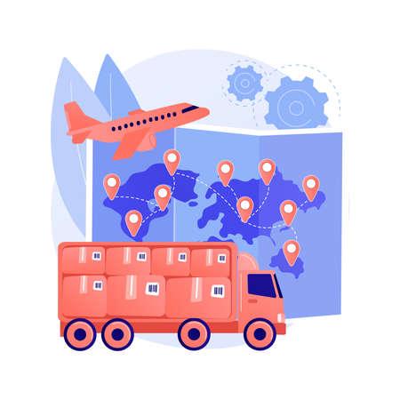 International shipment abstract concept vector illustration. Illustration