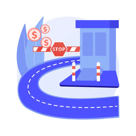 Toll road abstract concept vector illustration.