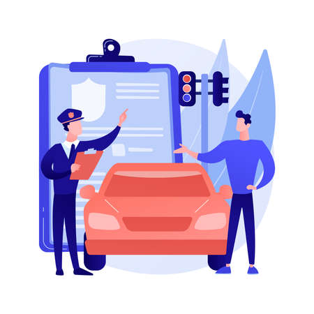 Traffic fine abstract concept vector illustration.