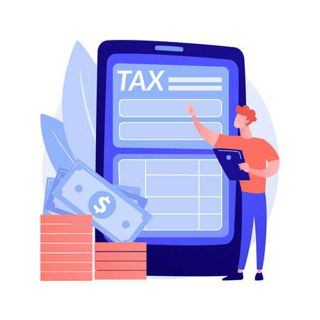 Tariff repay vector concept metaphor