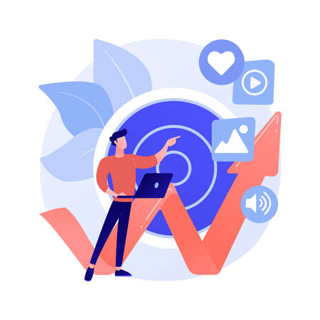 High ROI content abstract concept vector illustration.