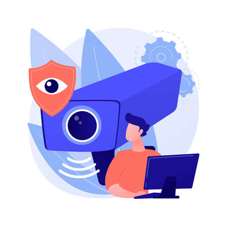 Video surveillance abstract concept vector illustration. Imagens - 155733781