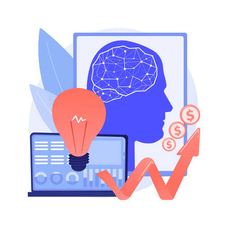 Artificial intelligence in financing abstract concept vector illustration.