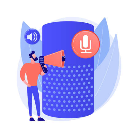 Voice Control abstract concept vector illustration.
