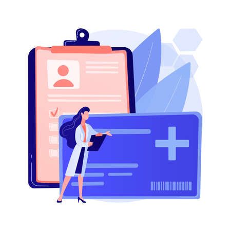 Healthcare smart card abstract concept vector illustration.