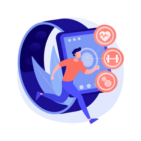 Healthcare trackers wearables and sensors abstract concept vector illustration.