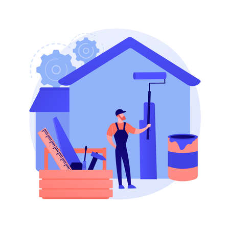 DIY repair abstract concept vector illustration.