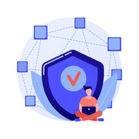 Decentralized application abstract concept vector illustration.  イラスト・ベクター素材