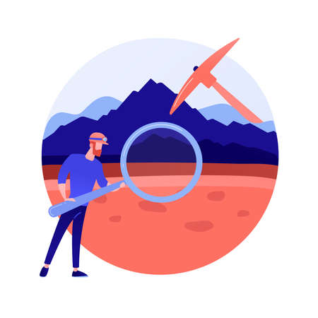 Geology abstract concept vector illustration. Иллюстрация