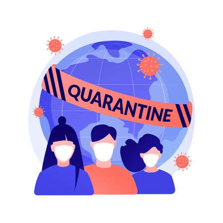 Quarantine abstract concept vector illustration. Vecteurs