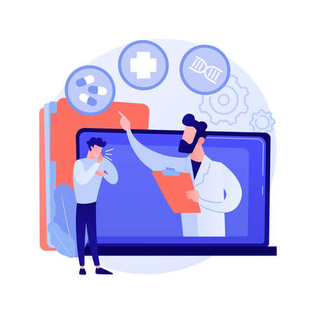 Telehealth abstract concept vector illustration.