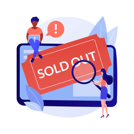 Sold-out event abstract concept vector illustration.