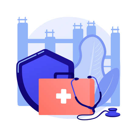 Occupational health abstract concept vector illustration. Иллюстрация