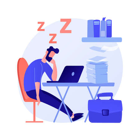 Sleep deprivation abstract concept vector illustration.