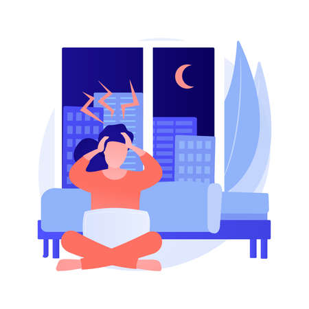 Sleep behavior disorder abstract concept vector illustration. Vektoros illusztráció