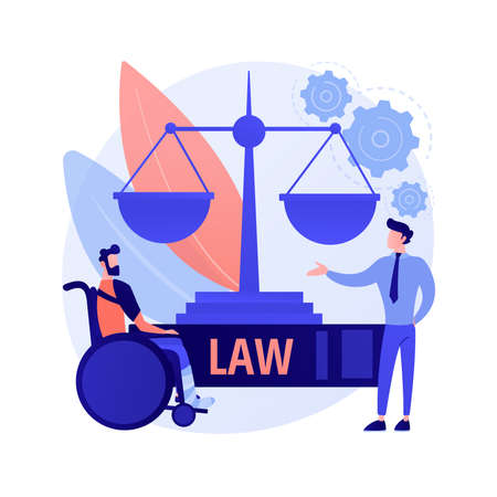Personal injury lawyer abstract concept vector illustration.