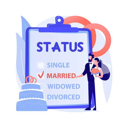 Marital status abstract concept vector illustration.