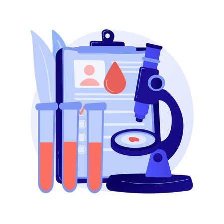 Blood testing abstract concept vector illustration.