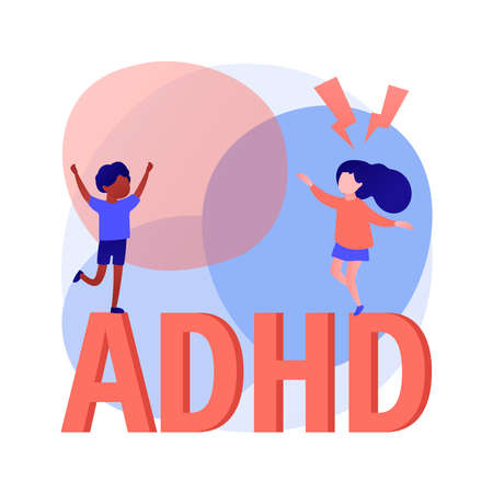 Attention deficit hyperactivity disorder abstract concept vector illustration. Vektorové ilustrace