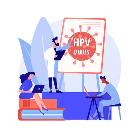 HPV education programs abstract concept vector illustration.