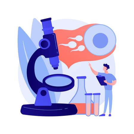 Infertility diagnosis abstract concept vector illustration.