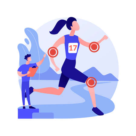 Sport medicine abstract concept vector illustration.