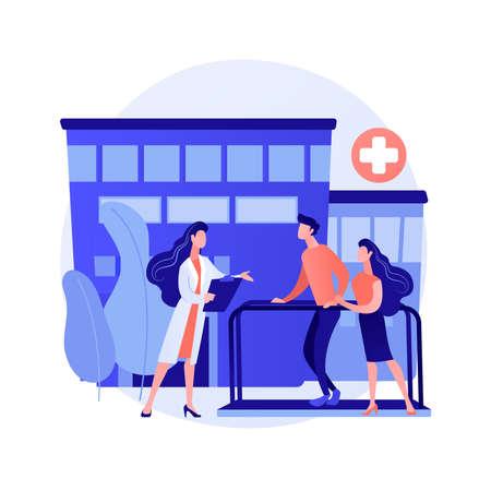 Rehabilitation hospital abstract concept vector illustration.
