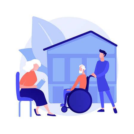 Nursing home abstract concept vector illustration.