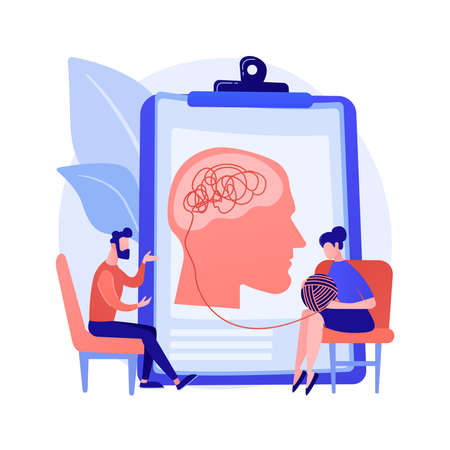 Psychotherapy abstract concept vector illustration.