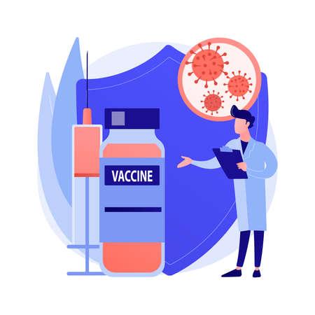 Coronavirus vaccine abstract concept vector illustration.