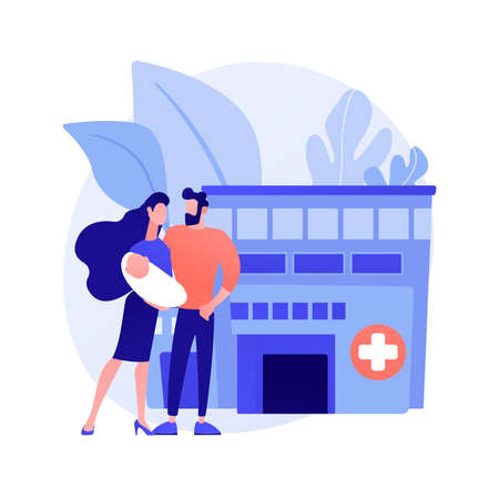 Maternity services abstract concept vector illustration.