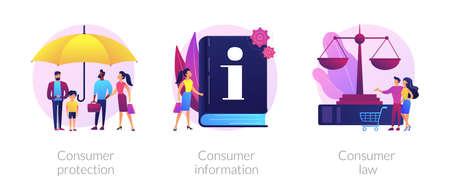 Consumer protection vector concept metaphors. Vektorgrafik
