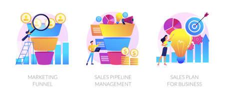 Sales conversions vector concept metaphors.