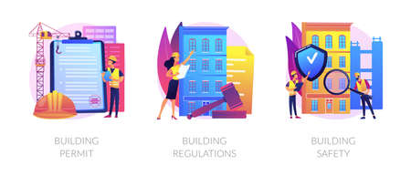Construction business abstract concept vector illustrations.