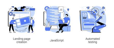 Web programming abstract concept vector illustrations. Illustration