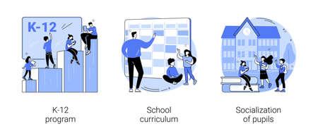 Education program abstract concept vector illustrations. Vector Illustration