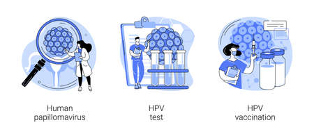 HPV infection abstract concept vector illustrations. Vector Illustration