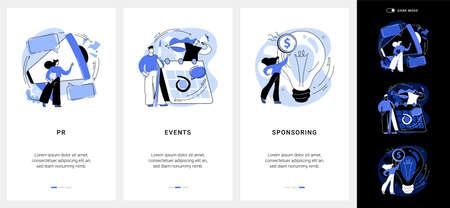 Company public relations mobile app UI kit.