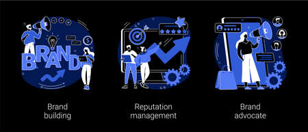 Trademark public relations abstract concept vector illustrations.