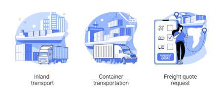 Logistics service provider abstract concept vector illustrations. Vektoros illusztráció