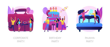 Party time vector concept metaphors.
