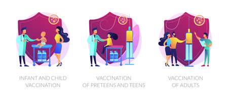 Vaccine-preventable diseases abstract concept vector illustratio Illustration