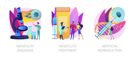 Infertility test and treatment vector concept metaphors. 일러스트