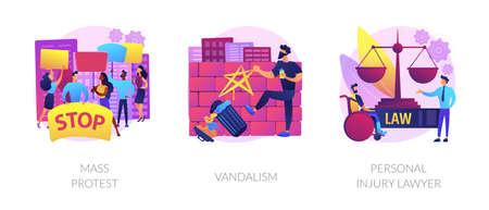 Riots outrage abstract concept vector illustrations. Vektoros illusztráció