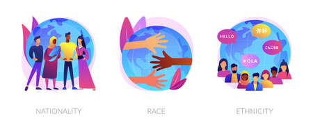 Human diversity abstract concept vector illustrations.