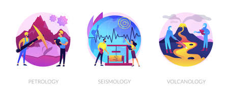 Geology science abstract concept vector illustrations.