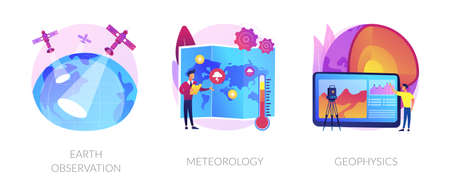 Planetary science abstract concept vector illustrations.