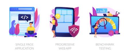 Application development vector concept metaphors.