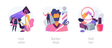 Beauty salon abstract concept vector illustrations.
