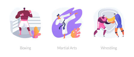 Combat sport abstract concept vector illustrations. 矢量图像